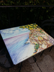Positano painted tables