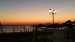 Stoupa sunset lamp post