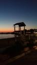 Stoupa sunset lifeguard hut