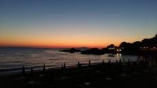 Stoupa sunset lights