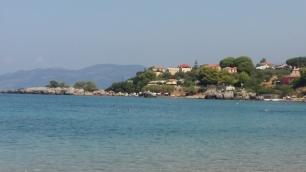View across Stoupa Bay