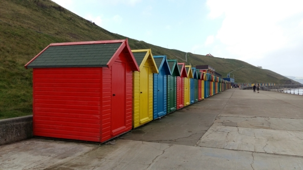 Beach huts Whitby