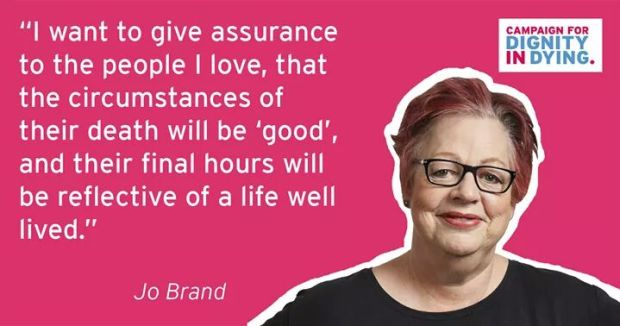 Dignity in Dying Jo Brand
