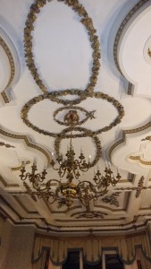 Ettington Park library ceiling