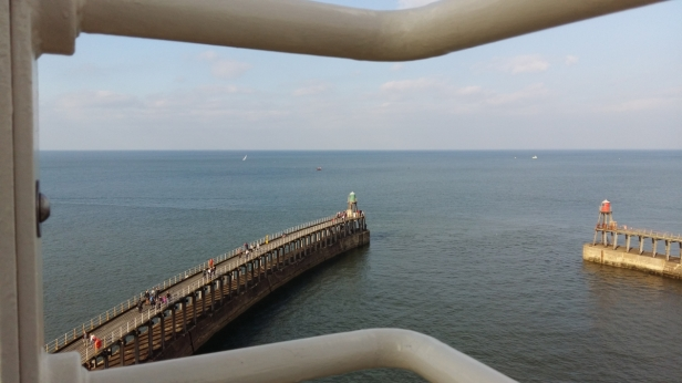 View to sea from Whitby lighthouse