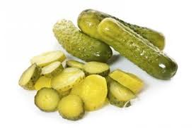 Sliced gherkins