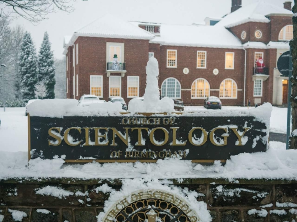 Church of Scientology Birmingham snow pic