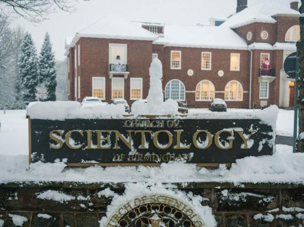 Church of Scientology Birmingham snow pic