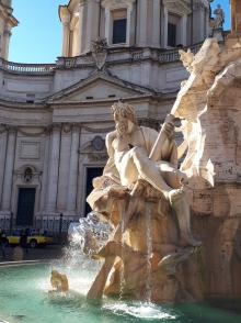 Fontana dei Quattro Fiumi and Santa Agnese in Agone church