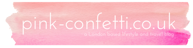 Pink Confetti blog header