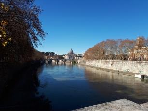 Rome River Tiber & St Peters Basilica