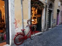 Rome street and bike