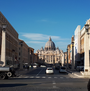 Approach to St Peters Basilica