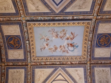 Blue and gold ceiling Vatican Museums