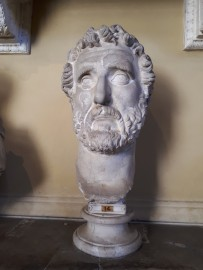 Bust in Hall of Busts Vatican Museums