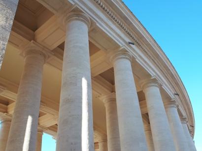 Columns at St Peters Basilica