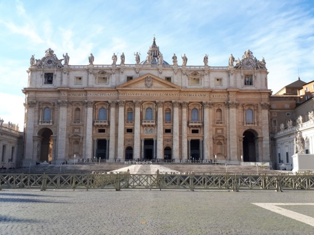 Front of St Peters Basilica Rome