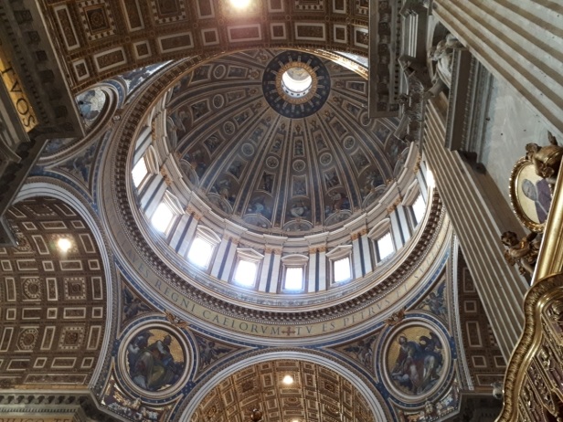 Inside St Peters Basilica dome