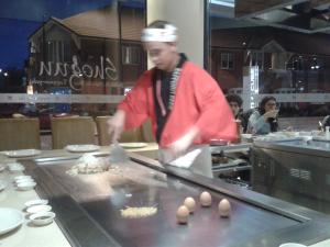 Shogun Teppanyaki chef