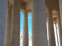 St Peters Basilica columns and dome