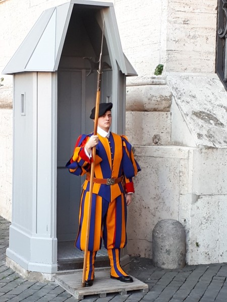 Swiss Guard at St Peters Basilica