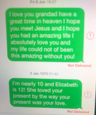 Text messages to Grandad