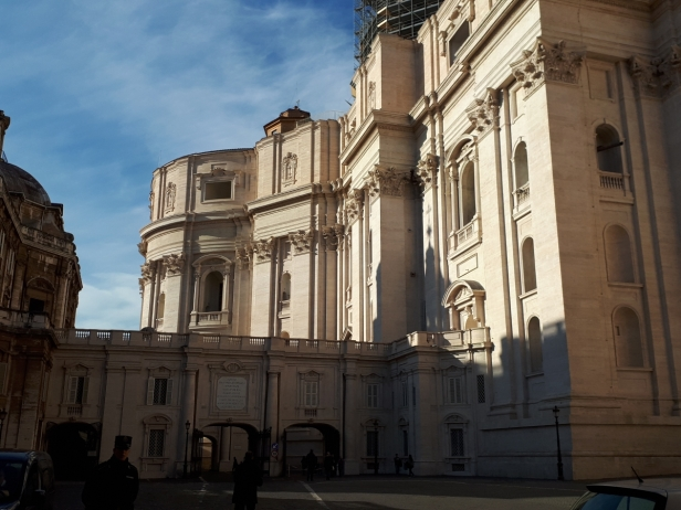 Waiting for the Scavi tour at St Peters Basilica
