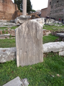 Carvings on roman ruins