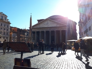 Pantheon lunch view