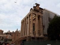 Roman Forum temple ruins