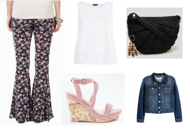 Tobi floral flares outfit