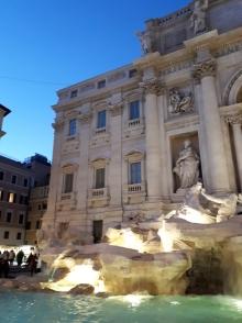 Trevi Fountain evening