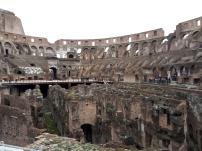 View across Colosseum underground