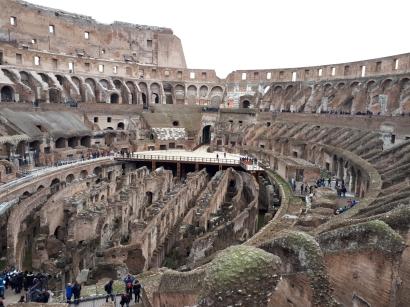 View of overground and underground Colosseum