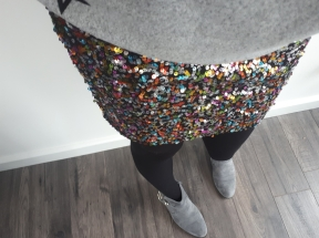 Multi sequin skirt and boots