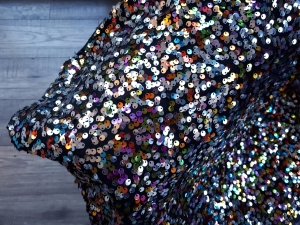 Multi sequin skirt close up