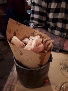 Bucket of calamari at Cantina e Cucina Rome