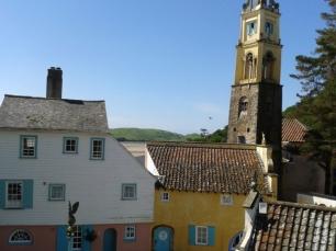 Coloured buildings Portmeirion