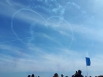 Heart shape trails Red Arrows Cosford airshow
