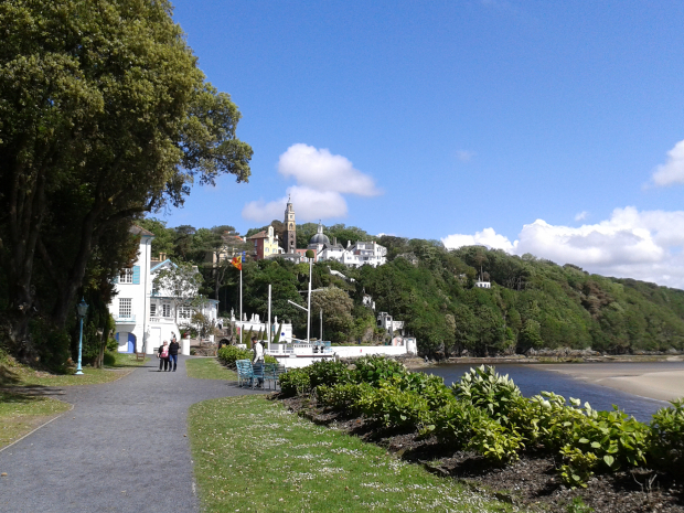 Looking back to PortMeirion