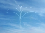 Palm tree trails Red Arrows Cosford airshow