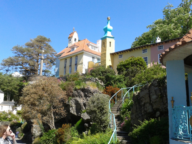 Pastel building Portmeirion