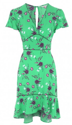 Peacocks green floral dress