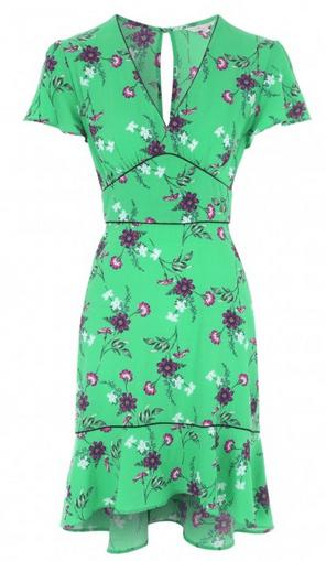 Peacocks green floral dress