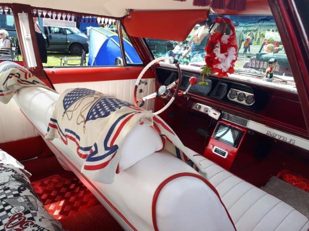 Retro car interior Cosford airshow