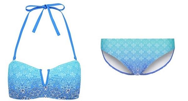 Asda ombre blue bikini