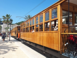 Close up of Port de Soller tram