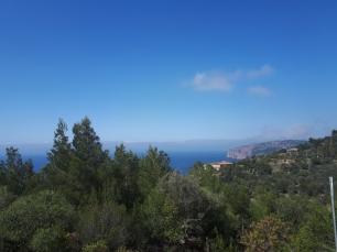 Looking back to Port de Soller from the mountains