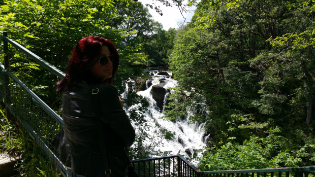 Me looking over Swallow Falls
