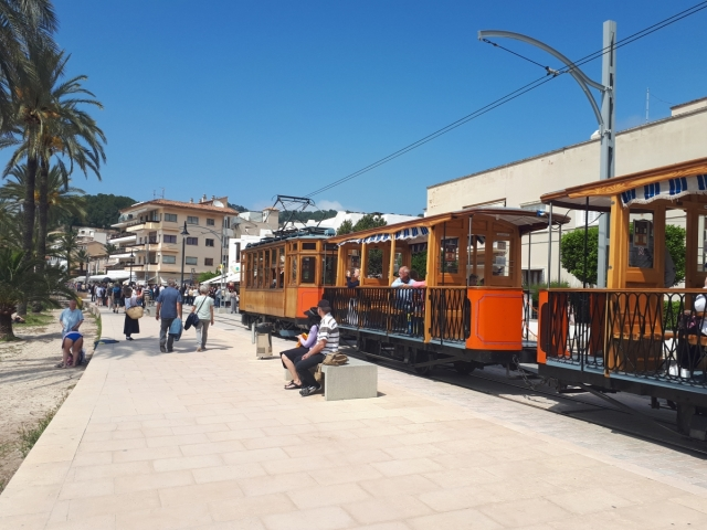 Open tram at Port de Soller